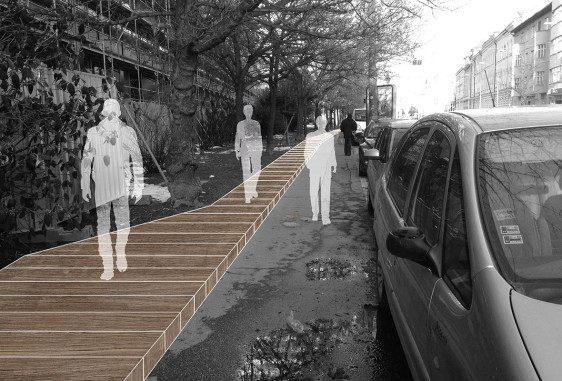 Radlinskeho street sidewalk