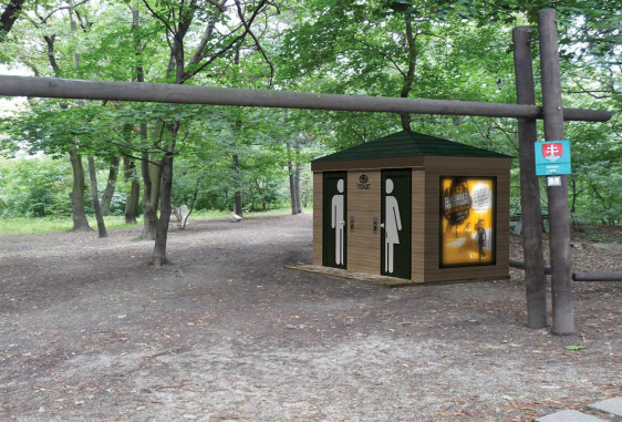 Verejná toaleta v Horskom parku v Bratislave