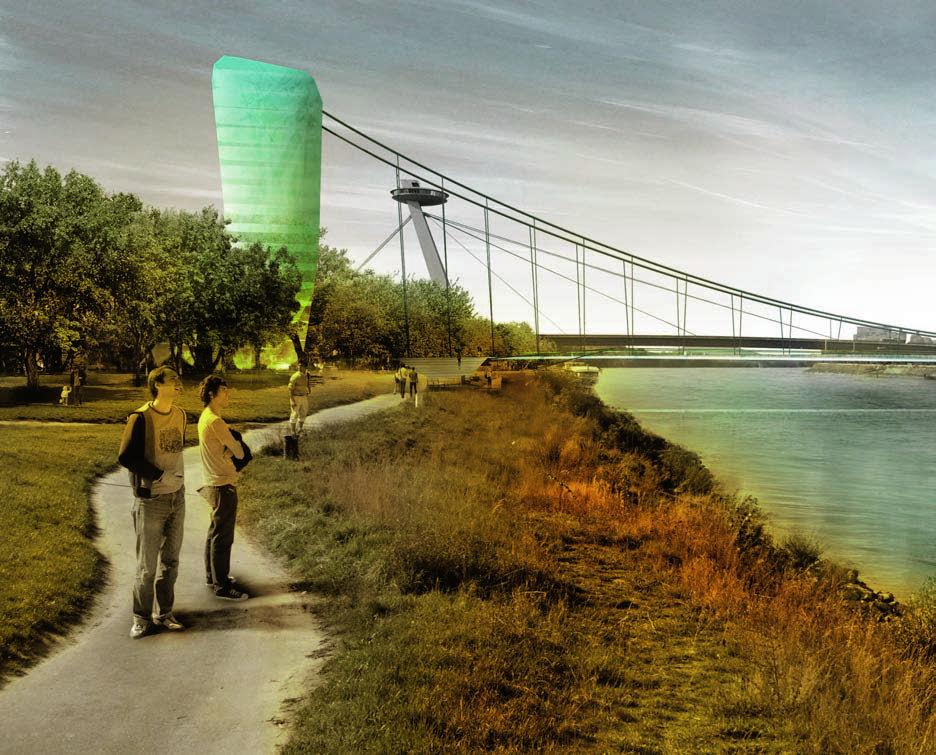 Pedestrian Bridge Over the Danube